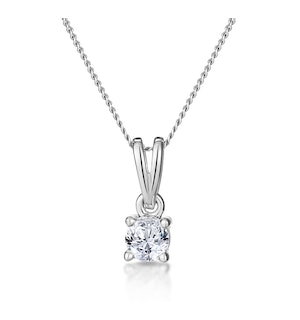 0.25CT DIAMOND SOLITAIRE CHLOE SOLITAIRE NECKLACE IN 9K WHITE GOLD
