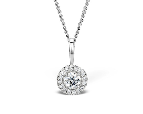 Diamond Halo Necklaces