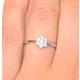 Diamond 0.04ct 9K White Gold Cluster Ring - E5885 - image 4