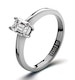 Diamond Engagement Ring Emerald Cut 18K White Gold 0.25CT-G-H/SI - image 1