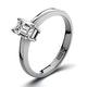 Certified Emerald Cut Platinum Diamond Engagement Ring 0.33CT-G-H/SI - image 1