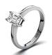 Certified Emerald Cut Platinum Diamond Engagement Ring 0.50CT-F-G/VS - image 1