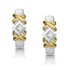 0.15ct Diamond Crossover Huggy Earrings in 2 Tone Gold - image 1
