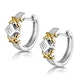 0.15ct Diamond Crossover Huggy Earrings in 2 Tone Gold - image 2