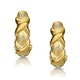 Three Stone Diamond Studded Huggy Earrings in 9K Gold - image 1