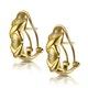 Three Stone Diamond Studded Huggy Earrings in 9K Gold - image 2