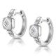 Chic Diamond Design Huggy Earrings in 9K White Gold - image 2