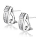 Elegant Diamond Huggy Earrings in 9K White Gold - image 2