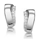 0.14ct Diamond Border Huggy Earrings in 9K White Gold - image 1