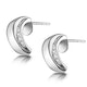 0.14ct Diamond Border Huggy Earrings in 9K White Gold - image 2