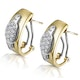 1/4 Carat Diamond Pave Inlay Design Earrings in 9K White Gold - image 2
