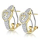 0.37ct Diamond Pave Heart Earrings in 9K Gold - image 2