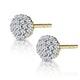 Cluster Earrings 0.25ct Diamond 9K Yellow Gold - image 2