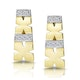 0.10ct Diamond Pave Kisses Earrings in 9K Gold - RTC-H3879 - image 1