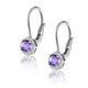 Amethyst 0.57CT And Diamond 9K White Gold Earrings - image 2