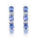 Tanzanite 1.02CT And Diamond 9K White Gold Earrings - image 1