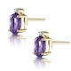 Amethyst 0.80CT And Diamond 9K Yellow Gold Earrings - image 2