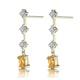 Yellow Sapphire 0.52CT And Diamond 9K Yellow Gold Earrings - image 2