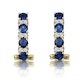 Sapphire 1.45CT And Diamond 9K Yellow Gold Earrings - image 3