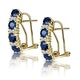Sapphire 1.45CT And Diamond 9K Yellow Gold Earrings - image 1