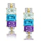 Amethyst and Topaz Diamond Earrings in 9K Gold - RTC-H4437 - image 1