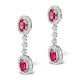 Ruby 0.55CT And Diamond 9K White Gold Earrings  H4483 - image 2