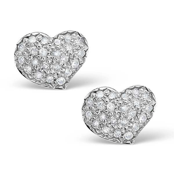 0.72ct Diamond and 9K White Gold Daisy Earrings - H4535 - image 1