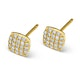 0.44ct Diamond and 9K Gold Daisy Earrings - H4537 - image 2