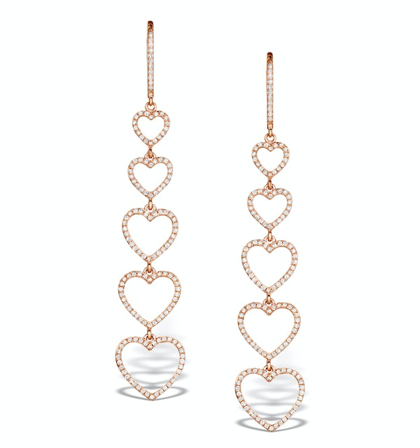 Vivara Collection 0.97ct Diamond and 9K Rose Gold Earrings H4572 - image 1