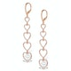 Vivara Collection 0.97ct Diamond and 9K Rose Gold Earrings H4572 - image 2