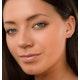 Vivara Collection Pink Sapphire 9K Rose Gold Heart Earrings H4575 - image 3