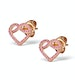 Vivara Collection Pink Sapphire 9K Rose Gold Heart Earrings H4575 - image 2