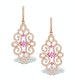 Vivara Collection Pink Sapphire and Diamond 9K Gold Earrings H4576 - image 1