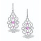 Vivara Collection Pink Sapphire and Diamond 9K Gold Earrings H4576y - image 1