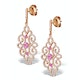 Vivara Collection Pink Sapphire and Diamond 9K Gold Earrings H4576 - image 2