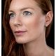 Stellato Champagne Diamond Halo Earrings 0.27ct in 9K White Gold - image 2