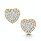 Stellato Collection Halo Diamond Earrings 0.32ct in 9K White Gold - image 1