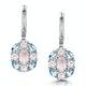 Rose Quartz Blue Topaz and Diamond Stellato Earrings in 9K White Gold - image 1