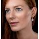 Rose Quartz Blue Topaz and Diamond Stellato Earrings in 9K White Gold - image 2