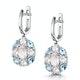 Rose Quartz Blue Topaz and Diamond Stellato Earrings in 9K White Gold - image 3