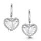 Quartz and Diamond Stellato Earrings 0.05ct in 9K White Gold - image 1