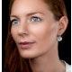 Quartz and Diamond Stellato Earrings 0.05ct in 9K White Gold - image 2