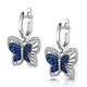 Sapphire and Diamond 0.34ct Stellato Butterfly Earrings 9K White Gold - image 3
