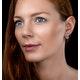 Blue Topaz and Diamond Stellato Earrings 0.09ct in 9K White Gold - image 2