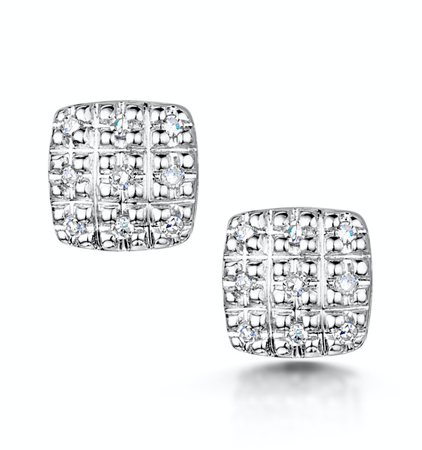 Stellato Collection Diamond Earrings 0.07ct in 9K White Gold - H4595 - image 1