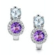 Amethyst Blue Topaz and Diamond Stellato Earrings in 9KW Gold  H4590 - image 1
