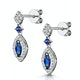 Stellato Collection Sapphire and Diamond Earrings 0.18ct 9K White Gold - image 3