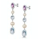 Pearl Amethyst and Blue Topaz Stellato Earrings in 9K White Gold - image 3