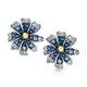 Sapphire Yellow Sapphire and Diamond Stellato Earrings 9K White Gold - image 1