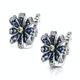 Sapphire Yellow Sapphire and Diamond Stellato Earrings 9K White Gold - image 3